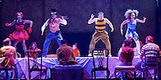 The Mad Hatter's Tea Party <br /> by Zoo Nation<br /> directed by Kate Prince<br /> presented by Zoo Nation, The Roundhouse & The Royal Opera House<br /> at The Roundhouse, London, Great Britain <br /> rehearsal <br /> 29th December 2016 <br /> <br /> <br /> Teneisha Bonner as The Queen of Hearts <br /> Issac Turbo Baptiste<br /> as the Mad Hatter <br /> Tommy Franzen as Ernest <br /> Kayla Lomas-Kirton as Alice <br /> <br /> <br /> Photograph by Elliott Franks <br /> Image licensed to Elliott Franks Photography Services
