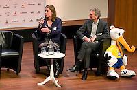 UTRECHT - Paul Rosemoller en Hockeycongres bij de Rabobank in Utrecht. FOTO KOEN SUYK
