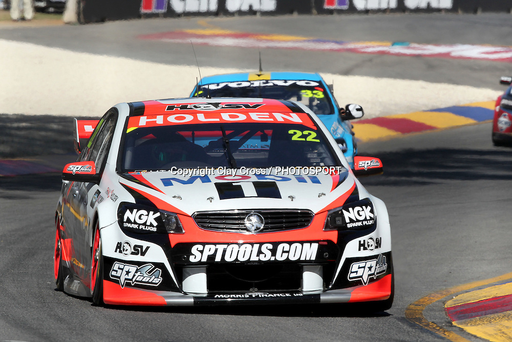 James Courtney (Holden Racing Team). 2014 Clipsal 500 Adelaide ~ V8 Supercar Series Race 1 held on the Adelaide Parklands Circuit, South Australia on Saturday 1 March 2014. Photo: Clay Cross / photosport.co.nz