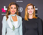 Queen Rania, King Abdullah & Anne Hathaway, UN