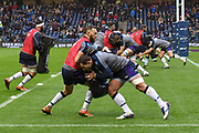 Warm up for Scotland squad before the Autumn Test match between Scotland and Argentina at Murrayfield, Edinburgh, Scotland on 24 November 2018.