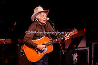 Ramblin' Jack Elliot  performing at Music For Youth's tribute to Bob Dylan at Avery Fisher Hall in Lincoln Center on November 9, 2006