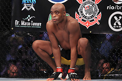 August 27, 2011; Rio De Janiero, Brazil; Anderson Silva in the octagon for his UFC Middleweight Championship bout against Yushin Okami at UFC 134 in Rio De Janiero.