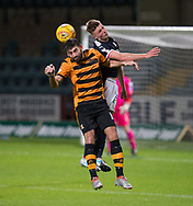 Dundee&rsquo;s Jordan Piggott beats Alloa Athletic's Kris Renton in the air  - Dundee under 20s v Alloa Athletic in the Irn Bru Cup Round 1 at Dens Park, Dundee - photograph by David Young<br /> <br />  - &copy; David Young - www.davidyoungphoto.co.uk - email: davidyoungphoto@gmail.com