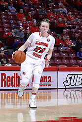 01 January 2017: Hannah Green during an NCAA Missouri Valley Conference Women's Basketball game between Illinois State University Redbirds the Braves of Bradley at Redbird Arena in Normal Illinois.