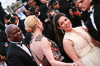 Djimon Hounsou, Cate Blanchett, America Ferrera, at the the How to Train Your Dragon 2 gala screening red carpet at the 67th Cannes Film Festival France. Friday 16th May 2014 in Cannes Film Festival, France.