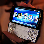 The Sony Ericsson Xperia PLAY, also known as the PlayStation phone, is shown at the Tokyo Game Show 2011 in Chiba, Japan, Friday, September 16, 2011. (Albert Siegel)