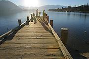 Pier, Lake Wanaka, Wanaka, South Island, New Zealand