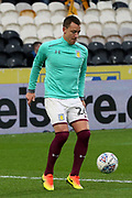 Aston Villa defender John Terry (26) warms up prior to  the EFL Sky Bet Championship match between Hull City and Aston Villa at the KCOM Stadium, Kingston upon Hull, England on 31 March 2018. Picture by Mick Atkins.