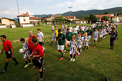 Nogometasi na dobrodelni nogometni tekmi ob 65-letnici Sportnega drustva Bilje, izkupicek namenjen Zavodu Lu ter Fundaciji Vrabcek upanja, on July 1, 2011, in Bilje pri Novi Gorici, Slovenia. (Photo by Vid Ponikvar / Sportida)