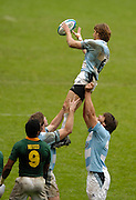 Twickenham, England.  ARG win the line out ball, during the RSA vs ARG match,  at the London Sevens Rugby, Twickenham Stadium, Sun, 27/05/2007 [Credit Peter Spurrier/ Intersport Images]