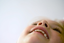 Portrait of little girl laughing,