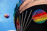 Hot air ballooning Quechee Vermont USA