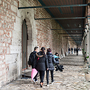 On a peninsula overlooking both the Bosphorus Strait and the Golden Horn, Topkapi Palace was the primary residence of the Ottoman sultans for approximately 400 years (1465–1856) of their 624-year reign over Constantinople and the Ottoman Empire. Today it is one of Istanbul's primary tourist attractions.