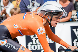 VAN DIJK Ellen from NETHERLANDS during Women Elite Time Trial at 2019 UEC European Road Championships, Alkmaar, The Netherlands, 8 August 2019. <br /> <br /> Photo by Pim Nijland / PelotonPhotos.com <br /> <br /> All photos usage must carry mandatory copyright credit (Peloton Photos | Pim Nijland)
