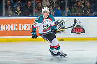 KELOWNA, CANADA - JANUARY 5: Conner Bruggen-Cate #20 of the Kelowna Rockets skates against the Seattle Thunderbirds on January 5, 2017 at Prospera Place in Kelowna, British Columbia, Canada.  (Photo by Marissa Baecker/Shoot the Breeze)  *** Local Caption ***
