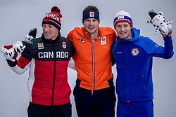 11-02-2018 KOR: Olympic Games day 2, Pyeongchang<br /> 5000 meter schaatsen mannen / Sven Kramer pakt het goud op de 5000 meter, Ted Bloemen CAN het zilver en de Noor Sverre Lunde Pedersen het brons