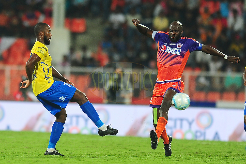 Mohd Sissoko of FC Pune City in action during match 16 of the Indian Super League (ISL) season 3 between FC Pune City and Kerala Blasters FC held at the Balewadi Stadium in Pune, India on the 17th October 2016.<br />
