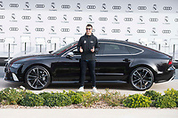 Cristiano Ronaldo of Real Madrid CF poses for a photograph after being presented with a new Audi car as part of an ongoing sponsorship deal with Real Madrid at their Ciudad Deportivo training grounds in Madrid, Spain. November 23, 2017. (ALTERPHOTOS/Borja B.Hojas)