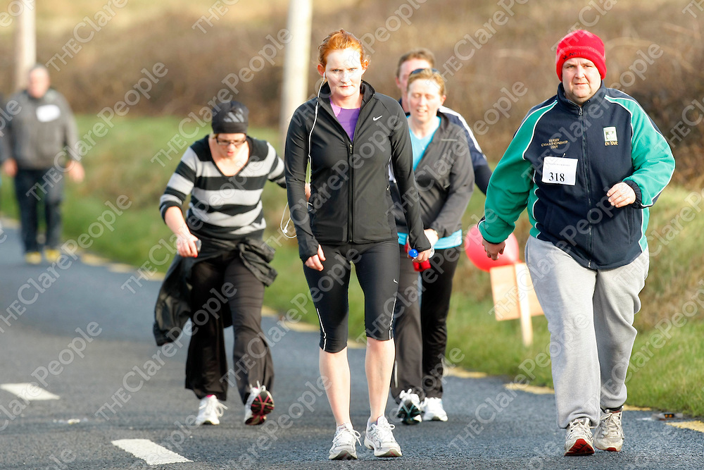 29/01/12<br /> Walkers pictured at the West Clare Mini Marathon from Doonbeg to Kilkee on Sunday.<br /> Picture: Don Moloney / Press 22