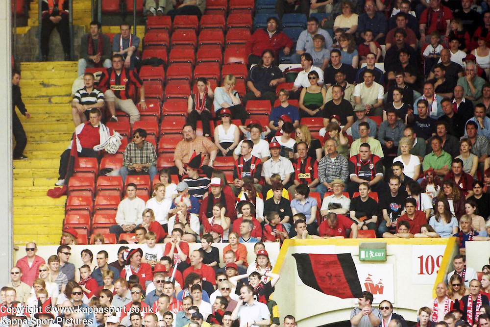 Kettering Town Fans  at Wembley, Action Game, Kettering Town v Kingstonia, FA Trophy Final, Wembley Stadium, Saturday 13th May 2000