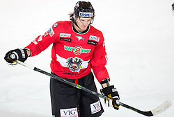 13.02.2016, Olympiaworld, Innsbruck, AUT, Euro Ice Hockey Challenge, Österreich vs Frankreich, im Bild Manuel Ganahl (AUT) // Manuel Ganahl of Austria during the Euro Icehockey Challenge Match between Austria and France at the Olympiaworld in Innsbruck, Austria on 2016/02/13. EXPA Pictures © 2016, PhotoCredit: EXPA/ Jakob Gruber