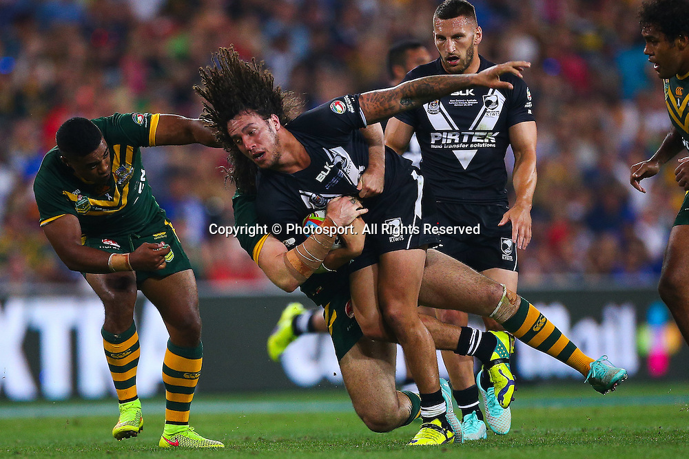 Kevin Proctor during the Four Nations test match between Australia and New Zealand at Suncorp Stadium,  Brisbane Australia on October 25, 2014.