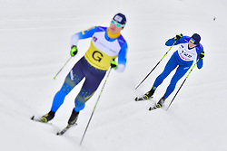 SUIARKO Dmytro Guide: POTAPENKO Vasyl, UKR, B2 at the 2018 ParaNordic World Cup Vuokatti in Finland