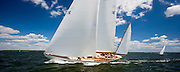 Dorade racing at the Museum of Yachting Classic Yacht Regatta