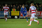 AFC Wimbledon striker Joe Pigott (39) chases through ball during the EFL Sky Bet League 1 match between AFC Wimbledon and Doncaster Rovers at the Cherry Red Records Stadium, Kingston, England on 14 December 2019.