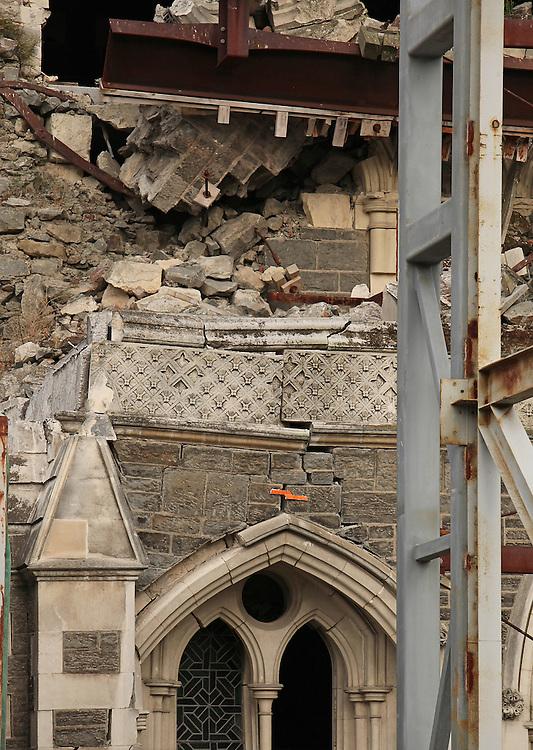 Earthquake damaged Christ Church Cathedral,  Christchurch, New Zealand, Friday, 06 November, 2015.  Credit: SNPA / Pam Carmichael