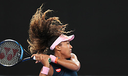 MELBOURNE, Jan. 17, 2019  Naomi Osaka of Japan returns the ball during the women's singles second round match against Tamara Zidansek of Slovenia at the Australian Open in Melbourne, Australia, Jan. 17, 2019. (Credit Image: © Bai Xuefei/Xinhua via ZUMA Wire)