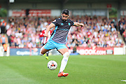Sheffield Wednesday Forward Marco Matias shoots at goal during the Sky Bet Championship match between Brentford and Sheffield Wednesday at Griffin Park, London, England on 26 September 2015. Photo by Phil Duncan.