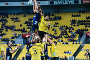 Line-out during the super rugby union  game between Hurricanes  and Highlanders, played at Westpac Stadium, Wellington, New Zealand on 24 March 2018.  Hurricanes won 29-12.