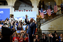 Vice President Joe Biden greets voters after delivering a speech at  Voter Registration Rally in support of the Clinton/Kaine ticket, at Drexel University, in Philadelphia, Pennsylvania.