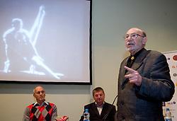 "Vlado Slamberger at presentation of a new book of one of the best Slovenian gymnast Miro Cerar named ""Miroslav Cerar in njegov cas - Miroslav Cerar and his time"" at his 70 years anniversary, on October 30, 2009, in Hotel Mons, Ljubljana, Slovenia.   (Photo by Vid Ponikvar / Sportida)"
