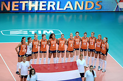 25-09-2014 ITA: World Championship Volleyball Nederland - USA, Verona<br /> Nederland verliest met 3-0 van team USA / Team Nederland