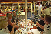 Captain's Dinner aboard Star Clipper, hosted by Captain Oleg.