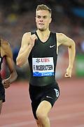 Filip Ingebrigtsen (NOR) places seventh in the 1,500m in 3:34.13 during the Weltklasse Zurich in an IAAF Diamond League meeting at Letzigrund Stadium in Zurich, Switzerland on Thursday, August 30, 2018.(Jiro Mochizuki/Image of Sport)
