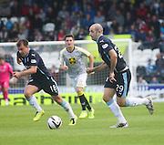 Dundee's Paul McGowan and Gary Harkins enjoyed a winning return to St Mirren Park - St Mirren v Dundee, SPFL Premiership at St Mirren Park<br /> <br />  - © David Young - www.davidyoungphoto.co.uk - email: davidyoungphoto@gmail.com