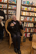 GEOFFREY BURNS,  Allie Esiri's The Love Book launch party , Daunt Books <br /> 83 Marylebone High Street, London. 5 February 2014