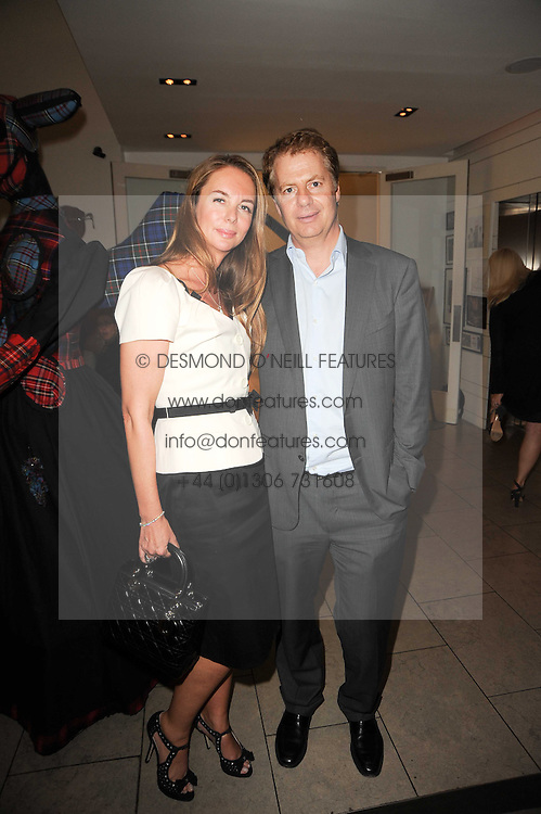 LADY SUSAN OLIVIER-HOSSIE and GRAHAM HOSSIE at a private view of Martha Freud's designs held at The Hospital Club, 24 Endell Street, London on 22nd September 2010.