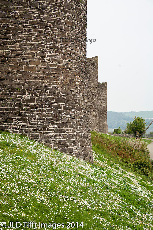 Conwy Castle towers and details