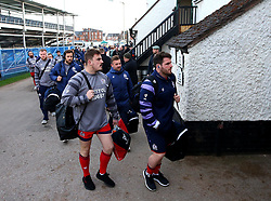 Bristol Rugby arrive at Nottingham Rugby - Mandatory by-line: Robbie Stephenson/JMP - 06/04/2018 - RUGBY - The Bay - Nottingham, England - Nottingham Rugby v Bristol Rugby - Greene King IPA Championship