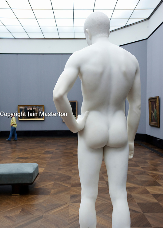 Sculpture keeping watch in Alte Nationalgalerie in Berlin Germany
