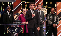 Geraint Thomas speaks after winning the BBC Sports Personality of the Year award during the BBC Sports Personality of the Year 2018 at Birmingham Genting Arena.