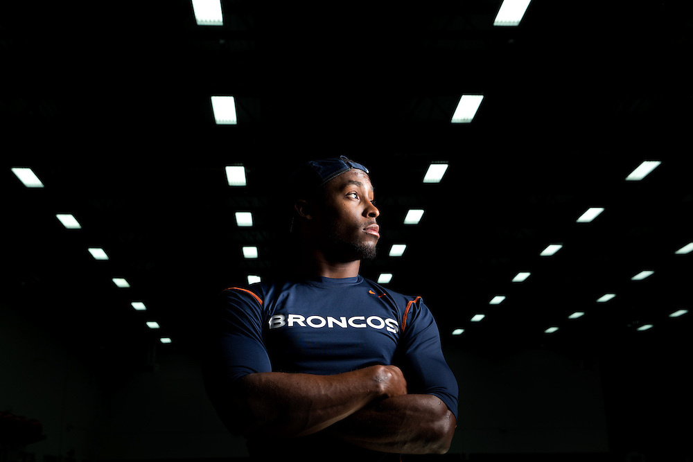 Denver Broncos Safety Rahim Moore. Photo by Justin Edmonds for Sports Illustrated
