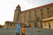 Europe, Slovakia, capitol city - Bratislava castle...