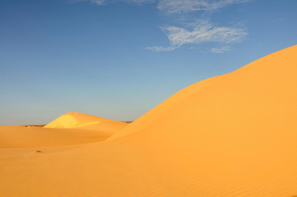 Meer aus Sanddünen in der Sahara, bei Chinguetti