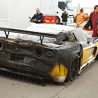 #14 Chevrolet Corvette C6.R Z06 - Phoenix Racing/Carsport (Drivers - Mike Hezemans and Anthony Kumpen) DNF due to fire, FIA GT1 Championship Silverstone 2010
